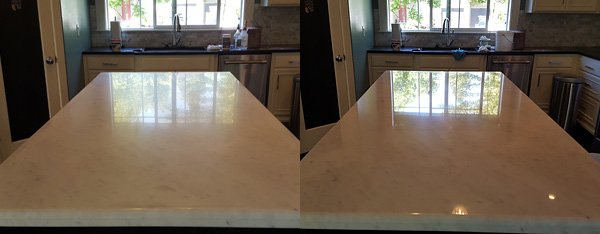 Stone restoration before and after